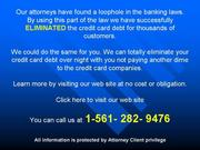 Laws,  rules,  codes,  of eradicating your card balance